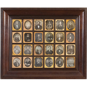 Immense Framed Set of Twenty-Four Sixth Plate Daguerreotypes,