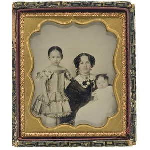 Ambrotype of Mother & Children,