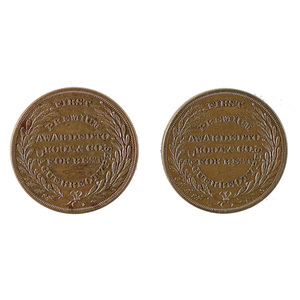 Two Different Root & Co. N.Y. Daguerrian Tokens