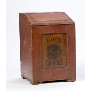 Lion Coffee Bin,