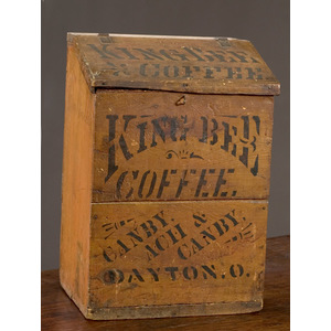 Rare Diminutive King Bee Coffee Bin,