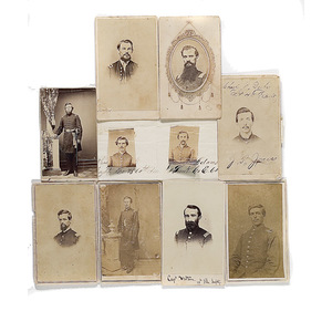Lot of Ten Identified Illinois Civil War CDVs,