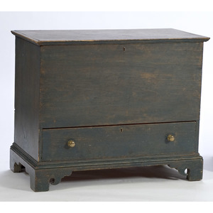 One-Drawer Blanket Chest in Blue Paint,