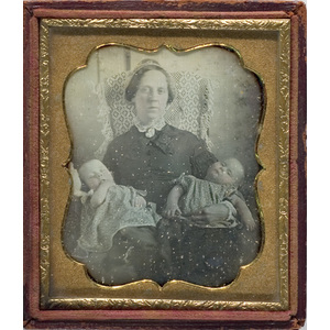 Daguerreotype of Mother & Twins,