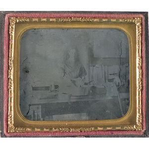 Sixth Plate Ambrotype of a Charwoman,