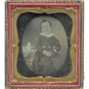 Sixth Plate Daguerreotype of a Little Boy with His Hand in His Pocket,