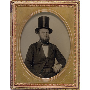 Quarter Plate Ambrotype of New Bedford Sea Captain, James Henry Sherman,