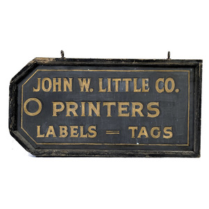 Double-Sided Label and Tag Maker's Trade Sign,