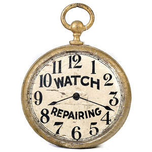 Figural Watch Repair Trade Sign,
