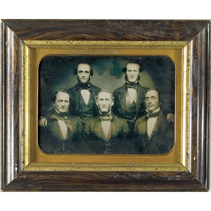 Whole Plate Ambrotype of a Group of Gentlemen,
