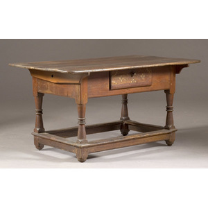 Early Inlaid Tavern Table,