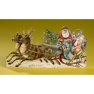 Outstanding Santa Claus German Die-cut,