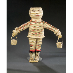 Eskimo Basketry Doll with Woven Features,