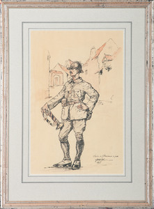 Unknown, Watercolor, Clairon de Chasseurs a Pied