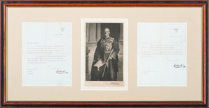 Two Typed Letters Signed by Field Marshal Frederick Roberts PLUS