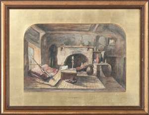 J.D. Hardy, Watercolor, World War I Interior