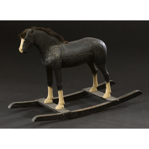 Carved Painted Rocking Horse,