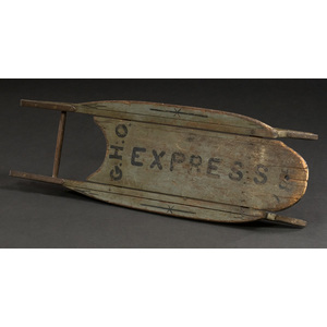 Early Paint-Decorated Child's Sled,
