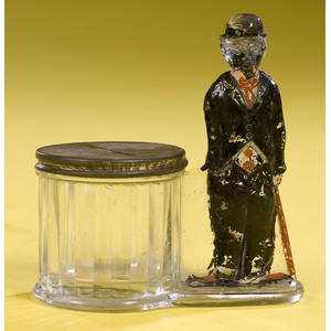 Charliey Chaplin Glass & Tin Penny Bank,