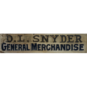General Store Trade Sign,