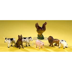 Herd of Cast Iron Animal Banks,