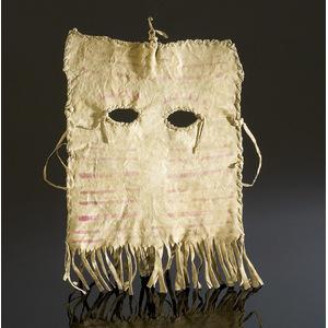 Canadian Montagnais-Naskapi Girl's Mask Given to Carl Moon,