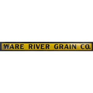 Trade Sign Ware River Grain Co.,