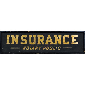 Notary and Insurance Trade Sign,