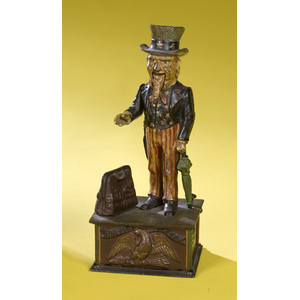 Cast Iron Mechanical Bank, Uncle Sam,