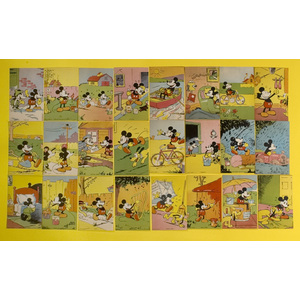 Set of Mickey Mouse Chromolithographed Bread Cards,
