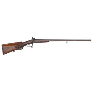 Engraved Pinfire Double Barrel Shotgun