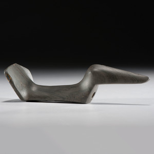 An Elongated Slate, Fantail Birdstone, From the Collection of Jan Sorgenfrei
