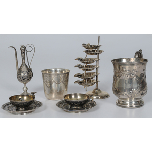 Assorted Silver Including Coin and Niello Pieces