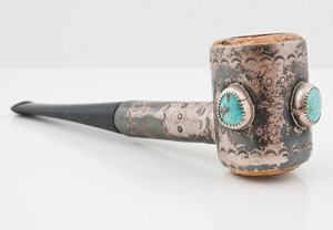 Navajo Silver and Turquoise Pipe