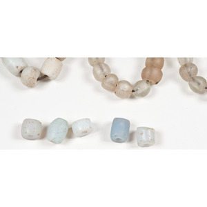 Milky-White AND Blue Trade Beads, From a New York Collector