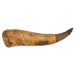 John Call Engraved Powder Horn Dated March 21 1759