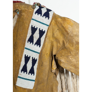 Blackfoot Beaded Hide War Shirt, Collected by John M. Phillips (1861-1953)