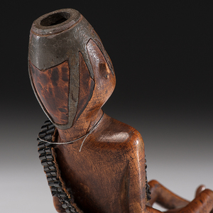 An Extraordinary 18th Century Eastern Woodlands Pipe, From the Collection of Clem Caldwell, Kentucky