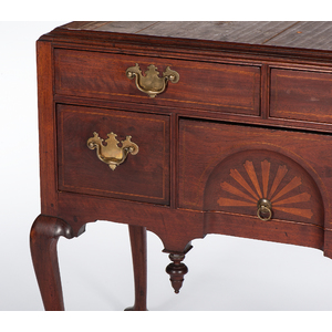A Scarce Boston Queen Anne High Chest with Inlaid Fans and Compass Roses