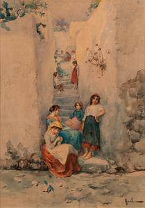 Arnaldo De Lisio (Italian, 1869-1949) Watercolor