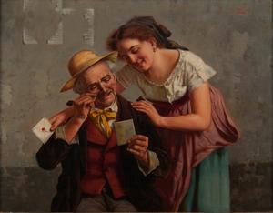 Jules Zermati (Italian, act. 1880-1920) Oil on Canvas