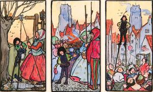 Florence Harrison (English, 1877-1955) Watercolor Illustrations