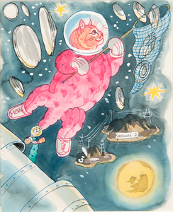 Kathleen Hale (English, 1898-2000) Watercolor Illustrations