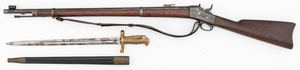 Model 1870 Springfield Navy Rolling Block Rifle W/Saber Bayonet