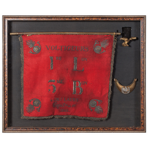 French Voltigeurs Regimental Banner and Gorget