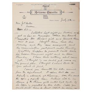 Myron McCord ALS, July 1901