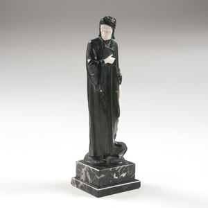 Bronze and Ivory Figure of a Man, Signed Bauer