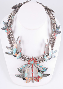 Channel Inlay Hummingbird Necklace