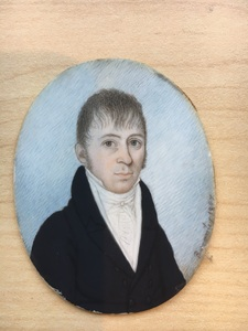 John Brewster, Jr. (American, 1766-1854) Miniature of a Gentleman, Plus