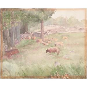 Emma Mendenhall (Cincinnati, 1873-1964), Watercolor